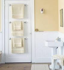 bathroom storage ideas towel holders in back of the door clever