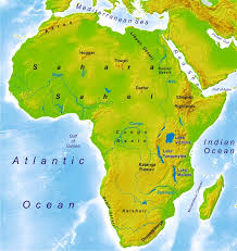 africa map physical physical and political maps world atlas period 4