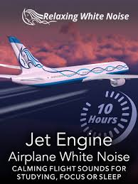 amazon com jet engine airplane white noise 10 hours calming