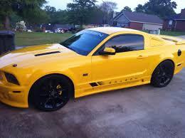 Mustang Yellow And Black Speedform Mustang Bullitt Style Black Fuel Door 24035 05 09 All