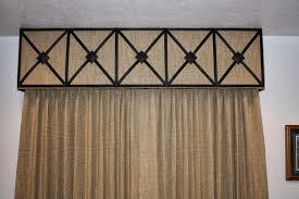 window fashions cornice board using wrought iron medallions
