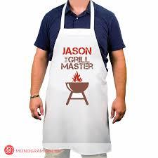 personalized grill master apron monogram