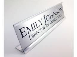 plaque de bureau personnalisé personnalisé nom bureau plaque plaque didentification en