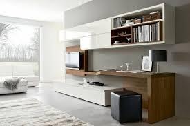 Aménagement De Bureau Moderne Dans Un Salon Design Tv Sets Bureau Blanc Et Bois