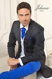 costume bleu mariage johann jaquette de mariage avec pantalon bleu dur