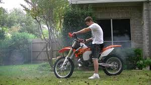 2013 ktm 250 sx start up with fmf factory fatty pipe and titanium