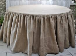 tablecloths for round tables dining room winsome burlap tablecloth for table covering idea