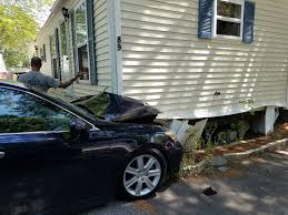 lexus service portland maine car hits trailer home in scarborough portland press herald