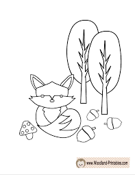 Free Printable Woodland Animals Coloring Pages Woodland Animals Coloring Pages