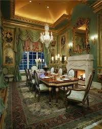 Grand Dining Room Grand Dining Room With Ornate Mirror And Fireplace Also