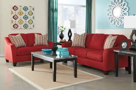 Red And Turquoise Living Room by Rent To Own Living Room Furniture