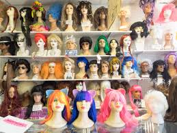 wigs at spirit halloween store not that kind of ghoul a story about fantasy costumes on the distance