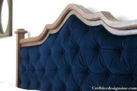 How To Make A Tufted Headboard Diy Tufted Upholstered Headboard Blue Tufted Headboard 3 Diy