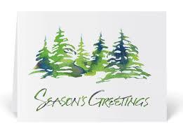 christmas cards in watercolor rustic watercolor trees card 4607 harrison greetings
