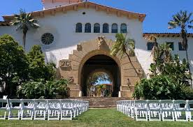 party rentals santa barbara white resin chairs for wedding ceremony at santa barbara