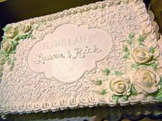 wedding sheet cake sheet cake designs the engagement cake was a sheet cake from