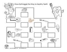 healthy teeth maze 1st 2nd grade worksheet lesson planet