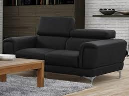 canap 2 places noir canapé et fauteuil en simili blanc ou noir moliere