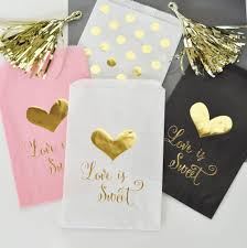 wedding treat bags is sweet gold foil candy buffet bags set of 12