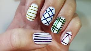 nail art for beginners 8 5 easy striping tape nail designs