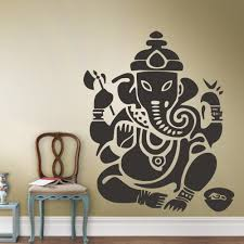 popular ganesh wall stickers buy cheap ganesh wall stickers lots free shipping diy ganesh wall decal wall sticker room art decor bedroom ganesh elephant god om