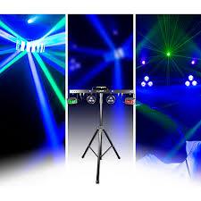 chauvet dj gigbar 2 4 in 1 led lighting system with 2 led derbys