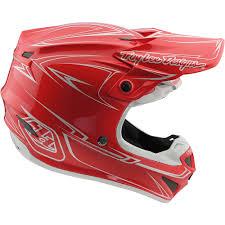 tld motocross helmets new troy lee designs 2018 mx se4 polyacrylite pinstripe red tld
