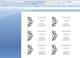 how to create business cards in microsoft word 2007 computer