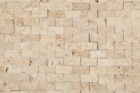 kesir travertine mosaic stacked stone brick series beige 1