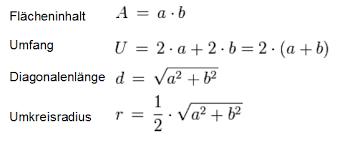 rechteck fläche berechnen flächenberechnung rechteck berechnen