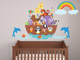 Fabric Wall Decals For Nursery Decals Noahs Ark Fabric Wall Decal You Can Get More