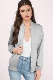 light bomber jacket womens light grey jacket grey jacket long sleeve jacket 30 tobi gb