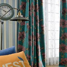 Shabby Chic Floral Curtains by Floral Jacquard Chenille Shabby Chic Curtains For Bedroom