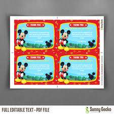 Mickey Mouse Invitation Cards Mouse Clubhouse 7x5 In Birthday Party Invitation With Photo