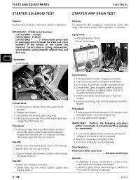 starter solenoid test starter amp draw test john deere stx38