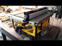 dewalt table saw review my review the portable dewalt tablesaw model dwe7480 youtube