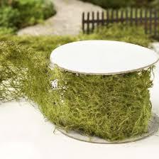 moss ribbon artificial moss ribbon moss wedding