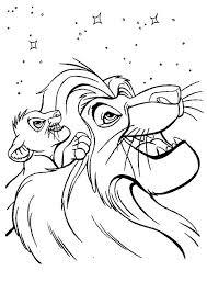 mufasa simba stars lion king coloring