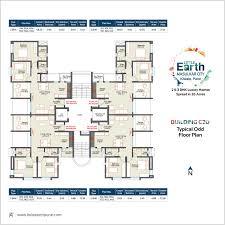 2bhk floor plan floor plans of little earth pune
