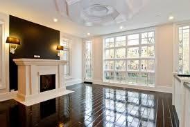 espresso floor contemporary living room