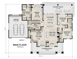 Bungalow House With 3 Bedrooms by Bungalow House Plan With 3 Bedrooms And 2 5 Baths Plan 2005