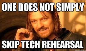 Tech Meme - radio theatre tech rehearsal when good shows go bad kumd