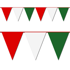 Flag That Is Green White And Red Amazon Com Red White And Green Triangle Pennant Flag 100 Ft