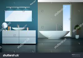 home interior vector modern bathroom home interior vector graphic stock vector