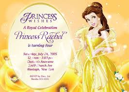 Personalised Birthday Invitation Cards Disney Princess Themed Birthday Party Invitation Template Emuroom