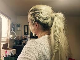 dutch braid pony tail amber fillerup inspired youtube