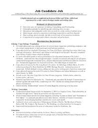 editor resume resume for your job application