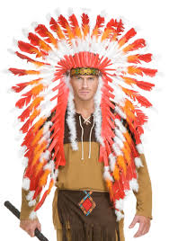 Native Indian Halloween Costumes Indian Chieftain Headdress