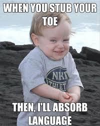 Evil Memes - when you stub your toe humor pinterest evil baby meme