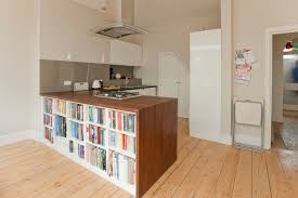 Kitchen Island With Bookshelf Built In Book Shelves Kitchen Modern With Black Bookcase Built In